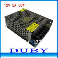 12V 5A 60W Switching Power Supply Driver For LED Strip light Display AC100V-240V Input,12V Output Free Shipping