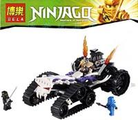 BELA 9732 256pcs 2013 3D DIY Ninjago Ninja toys minifigures war car with weapons building block sets Jigsaw eductional kids toys