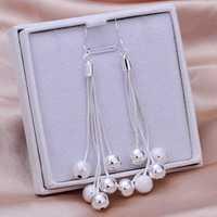 Free Shipping 925 Sterling Silver Earring Fine Fashion Silver Plated Clip Stud Jewelry Earrings SMTE277