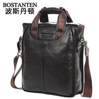 FREE SHOPPING BOSTANTEN One shoulder casual cowhide genuine leather men's bag / business handbag messenger bag briefcase