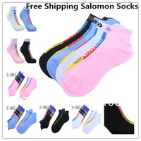 Free shipping 3pcs Salomon XA SPEED 2 Sports Socks For Men And Women 100% Cotton Athletic Socks 4 Colors