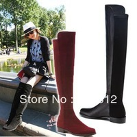 new 2014 women motorcycle boots show New York September leg cowhide knee-high boots women shoes genuine leather boots over knee