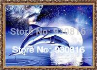 Diy 3d crystal diamond small diamond painting xinghewan dolphin rhinestone