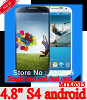 NEW  S4 A9500 i9500 phone 4.8 inch MTK6515 android 4.2 1GHZ capacitive screen dual cameras wifi with 9500 case