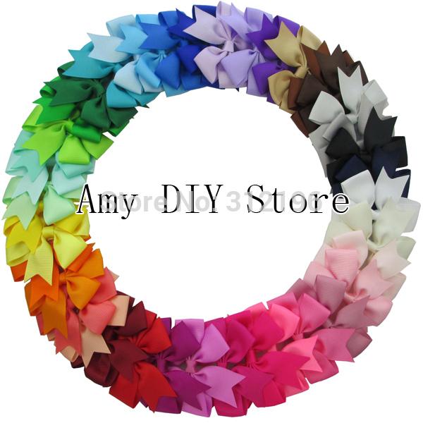 Free Shipping!40pcs 40Colors Baby Ribbon Hair Bows WITH Clip,Baby Girls' Boutique PinWheel HairBows ,Hair Clip Hair Accessories(China (Mainland))