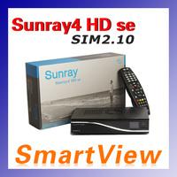 1pc Sunray4 HD se SR4 800HD se 3 in 1 tuner -T2 -C -S2 Triple tuner wifi with SIM2.10  Satellite Receiver free shipping