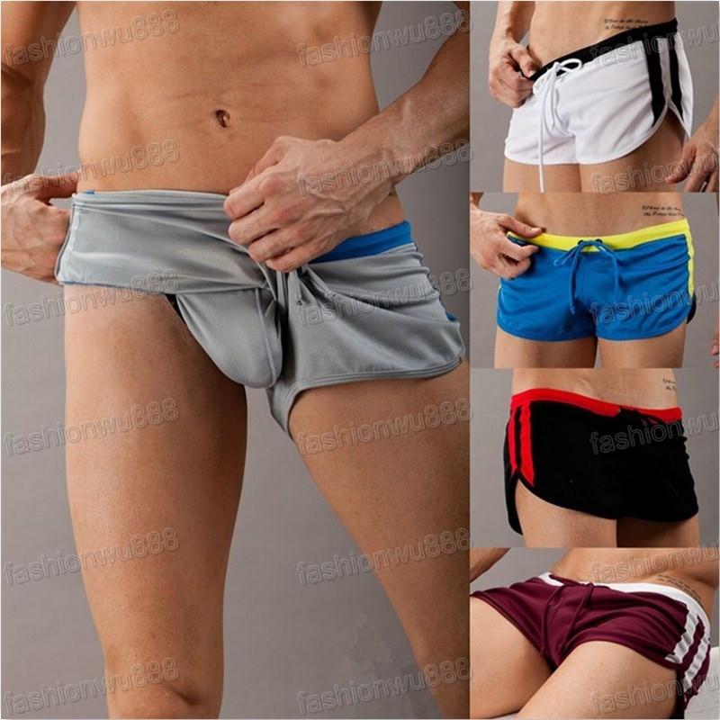 Hot Sale Leisure Men's Sports Sexy Shorts Swimming Trunks Tennis S,M,L,XL Free Shipping 1pcs/lot(China (Mainland))