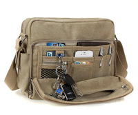 Tactical mens canvas business shoulder messenger bags for cards keys and pens1092 Free shipping