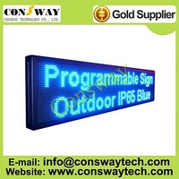 "FedEx free shipping, outdoor programmable led advertising display board with blue color and size 15.7""*66.1"""