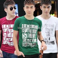 Men's fashion summer pure cotton  t-shirt big size short-sleeve t-shirt 100% cotton large size summer t-shirt/ Free shipping