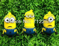 Free shipping 1GB-32GB 3D Cartoon Despicable Me Minions Dave usb flash drive memory stick thumb drive pen memory pen drive Gift