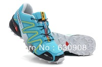 Free Shipping 2013 high quality salomon III 3 women run running athletic shoes ultralight antiskid casual shoes 4 colour