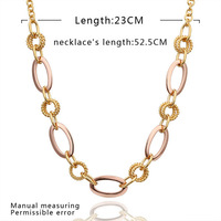 High Quality!18K Gold And Platinum Plated Fashion Necklaces & Pendants Nickel Free Crystal Jewelry N534