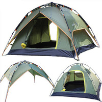 2013 new outdoor camping tent 3-4 double multiplayer automatic quick opening tents double tent and three ZP001 Free Delivery