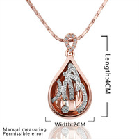 2014 High Quality!18K Gold And Platinum Plated Unique Necklaces & Pendants Nickel Free Crystal Jewelry,Wholesale N577