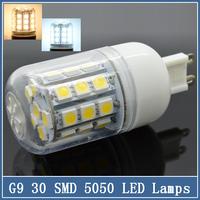 5x  Mini G9 LED Corn Lamps 220V 7W/9W/15W SMD 5050 24/30/36 LED Bulbs Crystal Spot Light 360 degree Indoor Droplight Chandelier