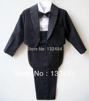 Five  piece set boys formal dress male flowers boy's suit  Child  tuxedo(2-10)