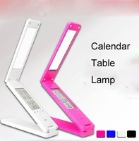 Portable Folding Eye Protection LED  Table Lamp with Calendar Clock Alarm Control Thermometer -Free Shipping!