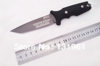 Hot Sale! MTech XTREME USA TY-8071 Survival Fixed Knives,5Cr13Mov Blade ABS Handle Gray Titanium Camping Knife.