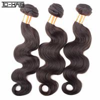 6A 100% Human Hair Extension Peruvian Virgin Hair Body Wave Unprocessed Virgin Hair Weaves 3pcs lot  Natural color 1B TD HAIR