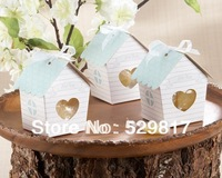 "New arrival 100pcs/lot ""Love Nest"" Bird House Favor Box  ,candy box,wedding favor box,Free Shipping"