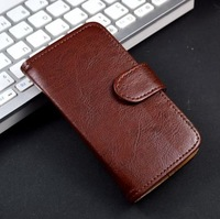 Luxury  flip genuine leather case cover for lenove A820 ,with stand and wallet and card holder function ,free shipping