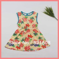 free shipping new 2013 summer Korea wholesale girl dress princess flower girl dress cute cotton elegant kids dress