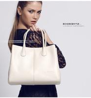 Coraldaisy  New  2014  Fashion Brand Shoulder Bag   Bump Color Bag Totes For Accomplished Women Leather Handbags