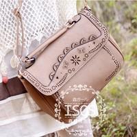 2013 bags vintage bag national trend cutout laciness women's handbag messenger bag