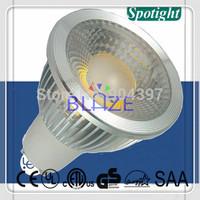 [Super Bright] 10pcs/Lot COB leds Dimmable 6W 652LM led GU10  Spotlight bulbs Ampoule 120V 230V with Color Box