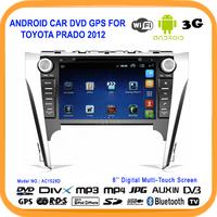 Touch screen Android4.0 Car DVD Player GPS For TOYOTA PRADO 2012 Radio GPS TV Bluetooth WiFi USB 3G DVR Free Map DVB+ISDB+ATSC