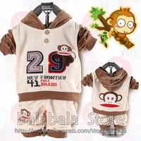 New Style Baby Boy's Sports Set 2pcs/set Sport Clothing Set Baby Wear Kids Suit 3set/lot hot