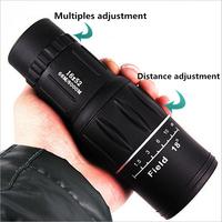 Free Shipping Brand New upgrade genuine HD high green film Twilight Dr. 16 * 52 Monocular double adjustable telescope