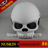 Masei 419 Skull DOT Fiberglass Motorcycle Helmet Bike Chopper Black Matt Finish