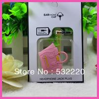 Free shipping smiley bag dust plug cell phone 3.5mm universal by headphone jack J.R.Fashion