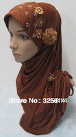 New Style Fashion Rhinestone Floral Design Muslim Hijab,Sequin Scarf,Necklace Pendant,Convinient Draw Cord Type Free Shipping