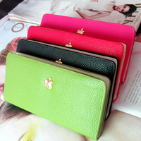 New hot 2013 pearl chain zipper Women lady purse wallet multicolor purse card holder free shipping leather PU