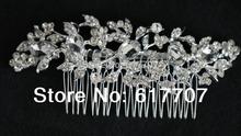 New 2015 Czech Rhinestone Imitation Gemstone Bridal Hair Combs Tiara Hair Accessories Wedding Hair Jewelry Hot