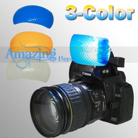 Free Shipping 3 Color Pop up Flash Hotshoe Diffuser For Canon EOS 60D 600D 350D 300D 1100D 40D