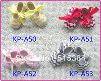 soft chevron baby crib shoes 4colors to choose baby chevron canvas kids shoes for girl 12pairs/lot free shipping