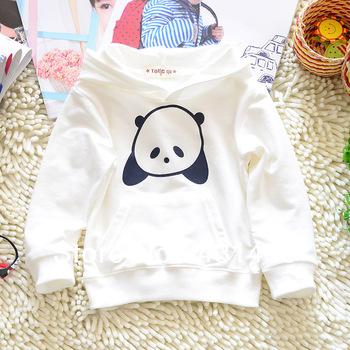 2013 autumn baby boy Белый Panda pattern pullover, sweatshirt, Хлопок свитер