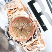 New Top Quality Japan Movements,Famous Branded Cowboy Chain Calendar Fashion Women Quartz Wrist Calendar Watch with LOGO