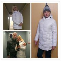 2014 New winter medium-long down coat female PU slim hooded jacket women down cotton-padded jacket fashion long outerwear,B918