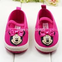Hot sale baby girls cartoon minnie shoes toddler antiskid shoes infant cute footwear prewalker first walkers  S81