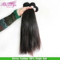 Berrys Fashion Hair, 3pcs/lot 6A Chinese Virgin Hair Silky Straight  Bundles , Mixed Length 10''-34'' Best Quality Human Hair