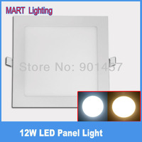 12w ultra thin led panel light 1150LM smd 2835 cree high power Square spot panel lamps