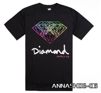 shipping 2014 new fashion diamond supply brand hip hop Tshirt men Short sleeve camiseta