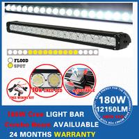 "30"" 180W CREE LED WORK LIGHT BAR 15480LM SPOT BEAM OFFROAD 4x4 ATV BOAT LAMP SUV FREE FAST SHIPPING IP68 9-48V DC led light bar"