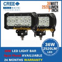 "2 PCS 36W 6.5"" Cree LED Work Light Bar Flood Beam Spot Lamp Offroad 4WD ATV Boat Truck Car Light Car External Light"