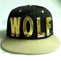 WOLF 3D letter hat Handmade crystal hiphop cap rivet hiphop hat baseball cap acrylic snapback